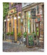 Street In Ghent Fleece Blanket