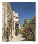 Street In Jaffa Tel Aviv Israel Fleece Blanket