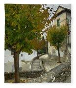 street in old Albaycin in Granada Fleece Blanket
