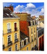 Street In Rennes Fleece Blanket