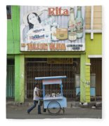 Street In Surabaya Indonesia Fleece Blanket