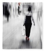 Street Lady Fleece Blanket