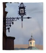 Street Lamp, Assisi Fleece Blanket