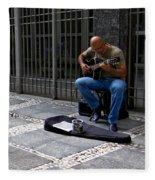 Street Musician - Sao Paulo Fleece Blanket