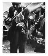 Street Musicians, 1935 Fleece Blanket