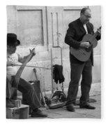Street Musicians In Avignon Fleece Blanket