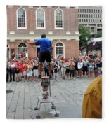 Street Performer Faneuil Hall Market Boston Fleece Blanket