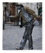Street Performer In Munich Fleece Blanket