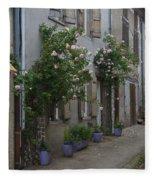 Street Scene Durfort France Fleece Blanket