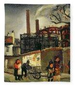 Street Scene In Paris, 1926 Fleece Blanket