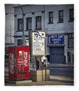 Street Scene With Coke Machine No. 2110 Fleece Blanket