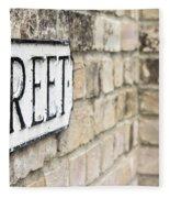 Street Sign Fleece Blanket
