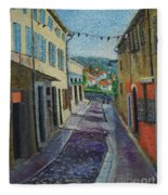Street View From Provence Fleece Blanket