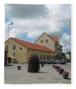 Street View. Silute Lithuania May 2011 Fleece Blanket