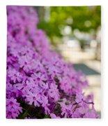 Street Wildflower Fleece Blanket