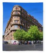Streetcorner In Rome Fleece Blanket