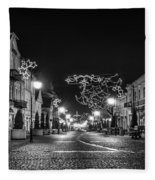 Streets Before Christmas Fleece Blanket