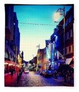 Streets Of Dublin Fleece Blanket