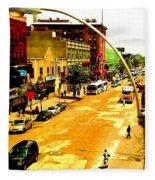 Streets Of Gold Fleece Blanket
