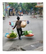 Streets Of Hanoi Fleece Blanket