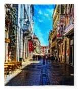 Streets Of Lisbon 1 Fleece Blanket