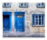 Streets Of Old Quebec 2 Fleece Blanket