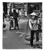 Streets Of Saigon Fleece Blanket
