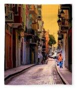 Streets Of San Juan Fleece Blanket