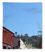 Streets Of San Miguel De Allende 2 Fleece Blanket