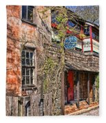 Streets Of St Augustine Florida Fleece Blanket