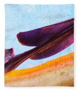 Strelitzia Abstract Fleece Blanket