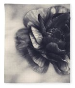 Striking In Black And White Fleece Blanket