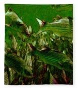 Striped Bass - Painterly V2 Fleece Blanket