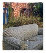 Striped Couch II Fleece Blanket