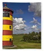 Striped Lighthouse Fleece Blanket
