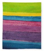 Stripes Original Painting Fleece Blanket