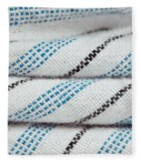 Stripey Material Fleece Blanket