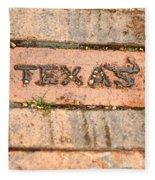 Stroll Down Texas Lane Fleece Blanket