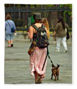 Strolling In Jackson Square Fleece Blanket