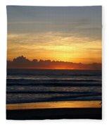 Strolling The Beach During Sunset Fleece Blanket