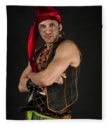 Strong Male Pirate 1 Fleece Blanket