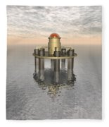 Structure At Sea Fleece Blanket