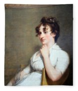 Stuart's Eleanor Parke Custis Lewis Or Mrs. Lawrence Lewis Fleece Blanket