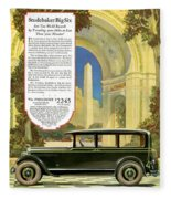 Studebaker Big Six - Vintage Car Poster Fleece Blanket