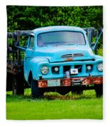 Studebaker Flatbed Truck Fleece Blanket