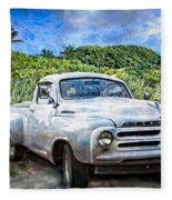 Studebaker Goes To The Beach Fleece Blanket