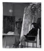 Studio Visit 1983 Fleece Blanket