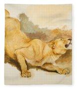 Study For Daniel In The Lions Den Fleece Blanket