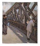 Study For Le Pont De L Europe Fleece Blanket
