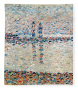 Study For The Channel At Gravelines Evening Fleece Blanket